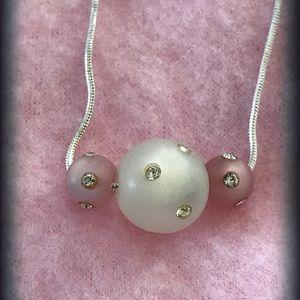 Resin Swarovski Crystal Bead Necklace